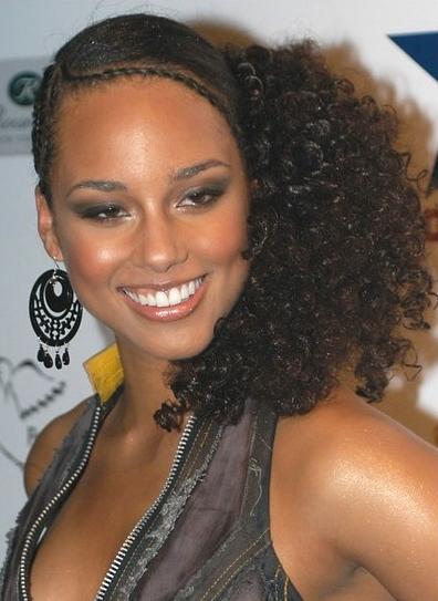 Terrific Alicia Keys Cornrow Hairstyles Alicia Keys Cornrow Braided Hairstyles For Women Draintrainus
