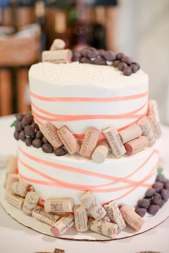 Wine Themed Bridal Shower Cake Bridal Shower At A Winery