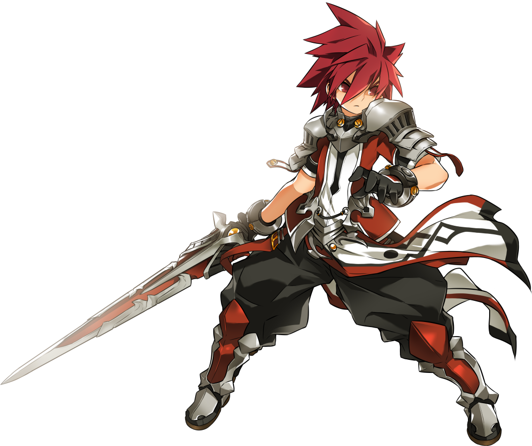 Anime Characters Jobs : Elsword lord knight after st job class sword