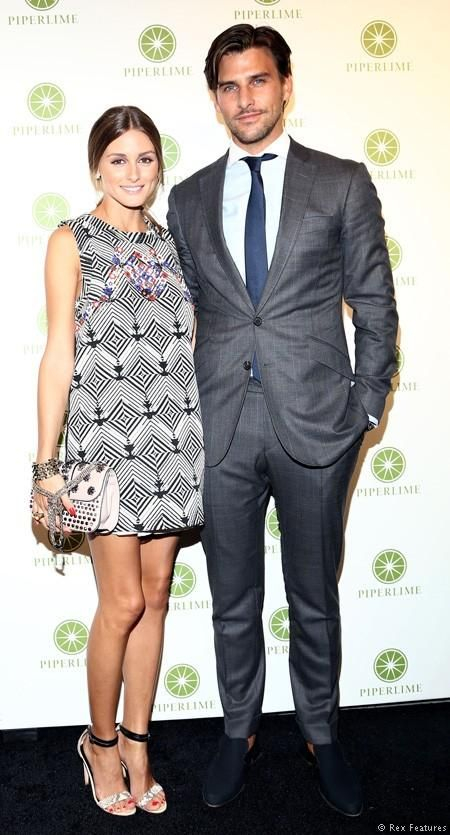 Olivia Palermo and Johannes Huebl at Vogue Fashion Night Out