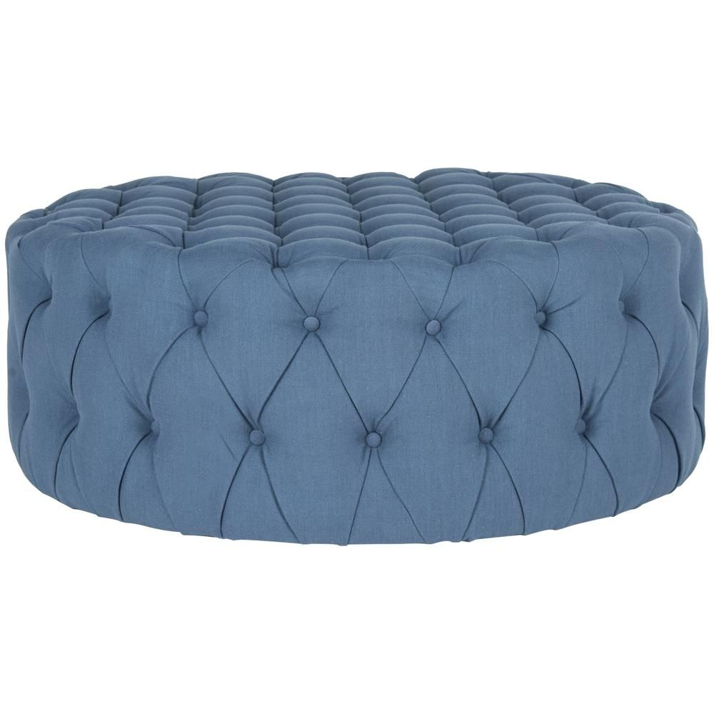 Safavieh Charlene Taupe Brown Tufted Ottoman Products Tufted