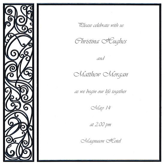 Blank Printable Wedding Invitations: Black And White Blank Wedding Invitation Templates