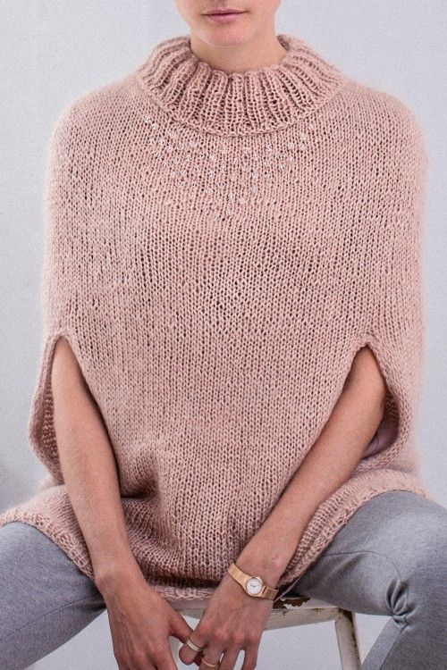 Mohair cape w/ Swarovski Pearls FREE knitting pattern in German (hva ...