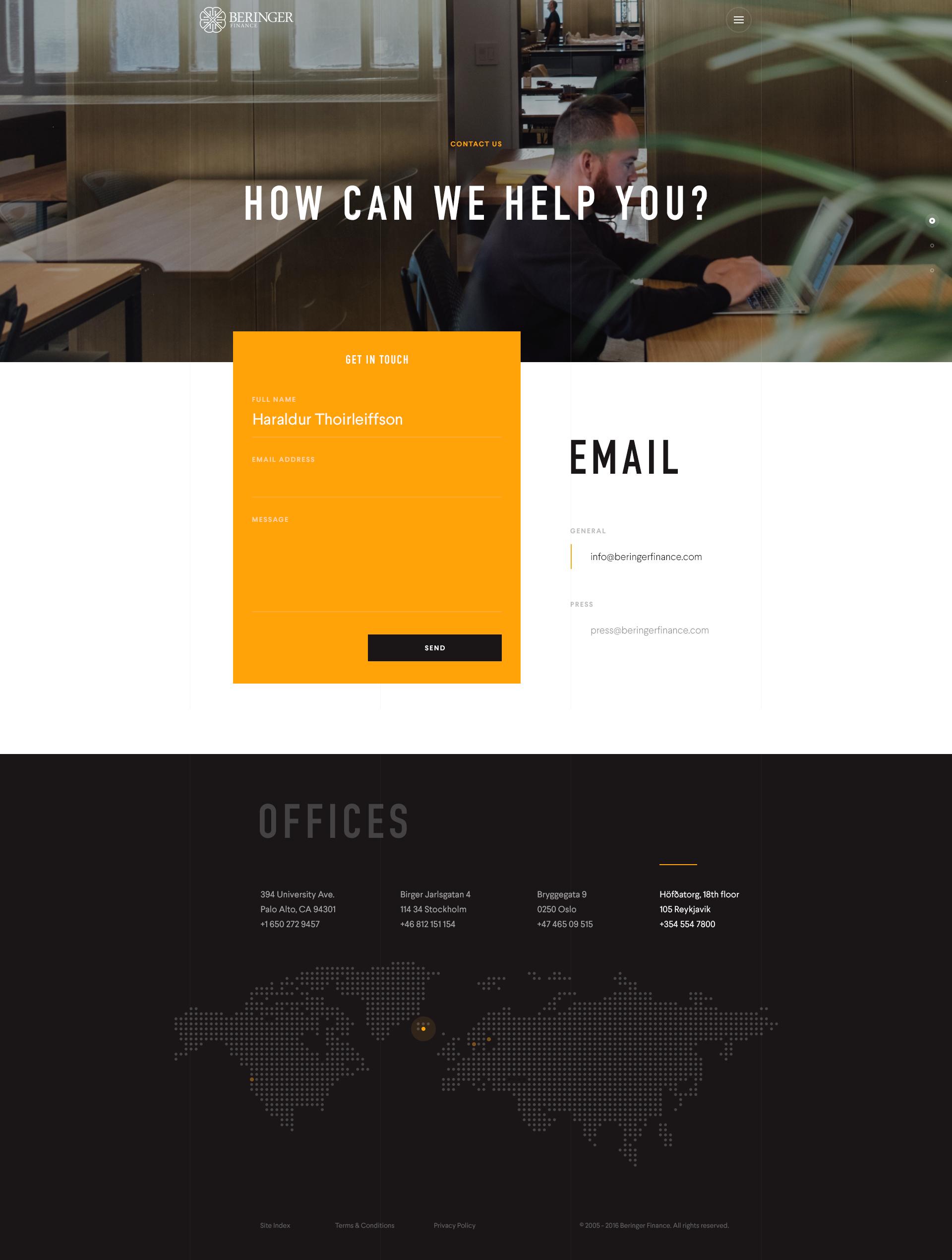 Beringer Design Contact Web Design Web App Design Web Design Inspiration