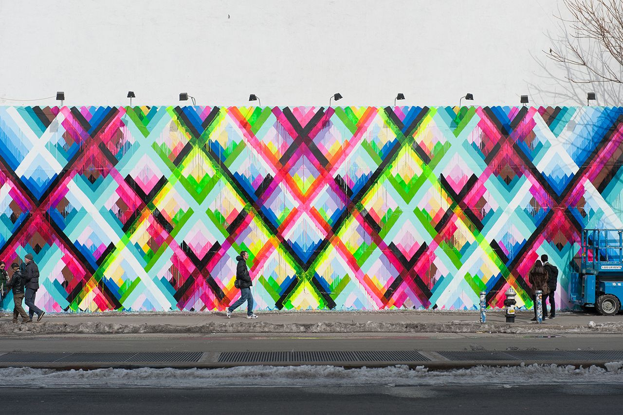 Maya hayuk 39 s bowery mural maya street art and graffiti for Mural street art