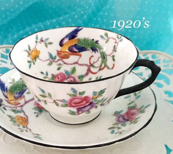 Antique 1920's Chelson Tea Cup and Saucer by VintageTeacupShop