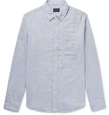 b1f3f2b05ec Club Monaco Button-Down Collar Double-Faced Brushed-Cotton Shirt