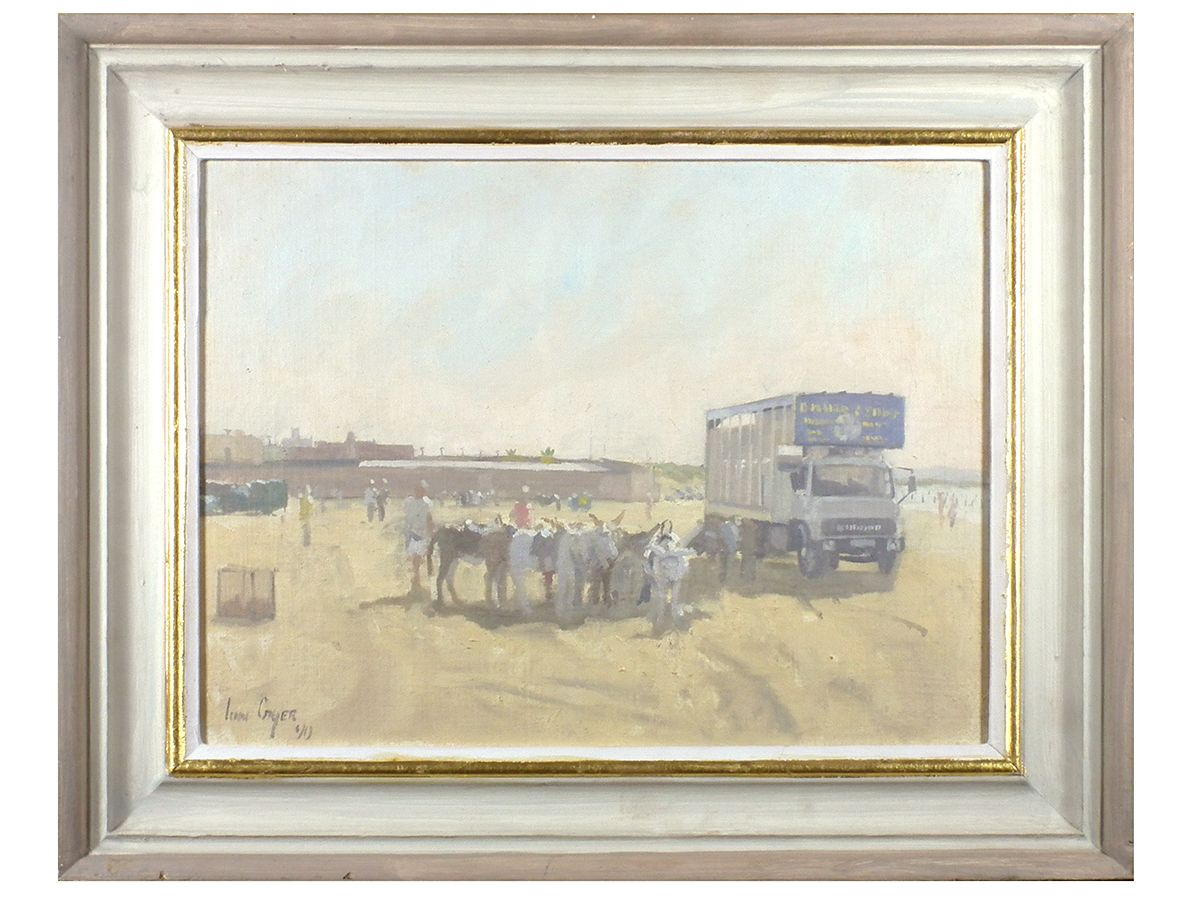 Beach Scene\' - Ian Cryer Original Oil on Board, signed & framed ...