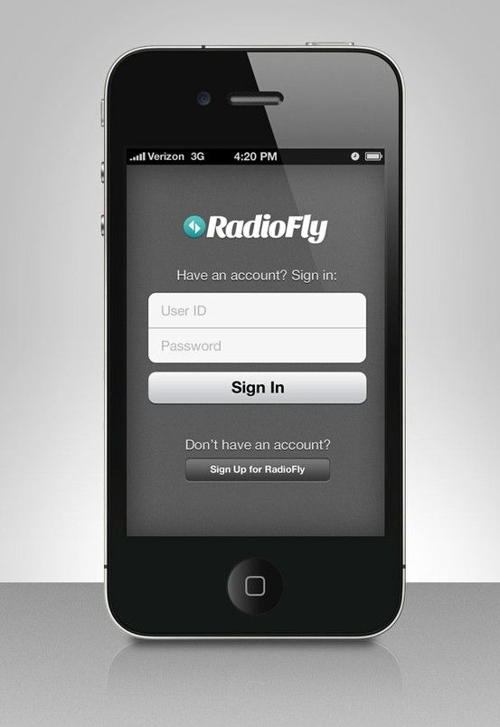 RadioFly iPhone Login Screen Practical jokes, Flirting