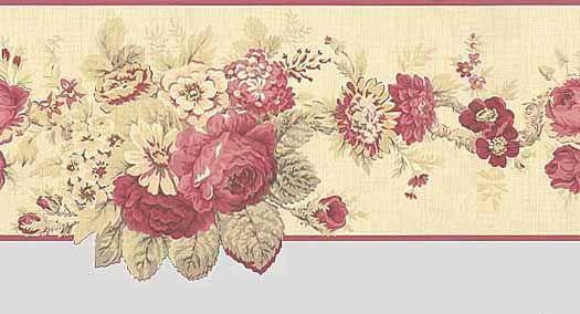 Victorian Rose Wallpaper Border
