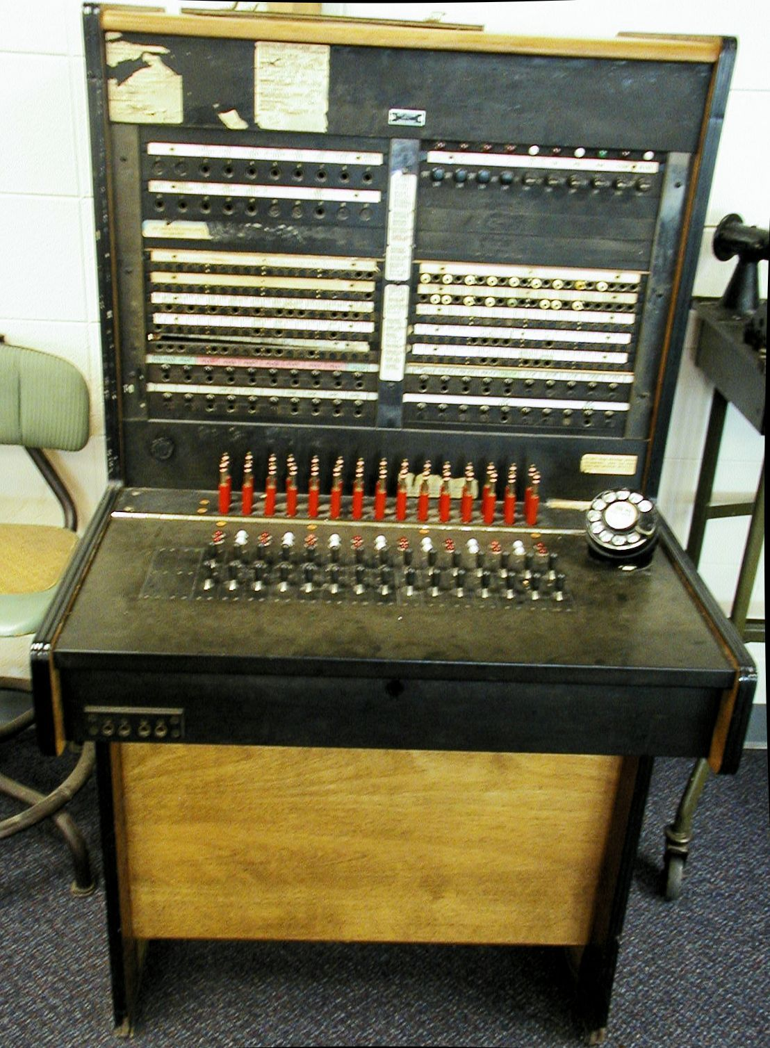 old pbx operator switchboard from 1950s 1960s photographed at old old pbx operator switchboard from 1950s 1960s photographed at old atlanta learning center in