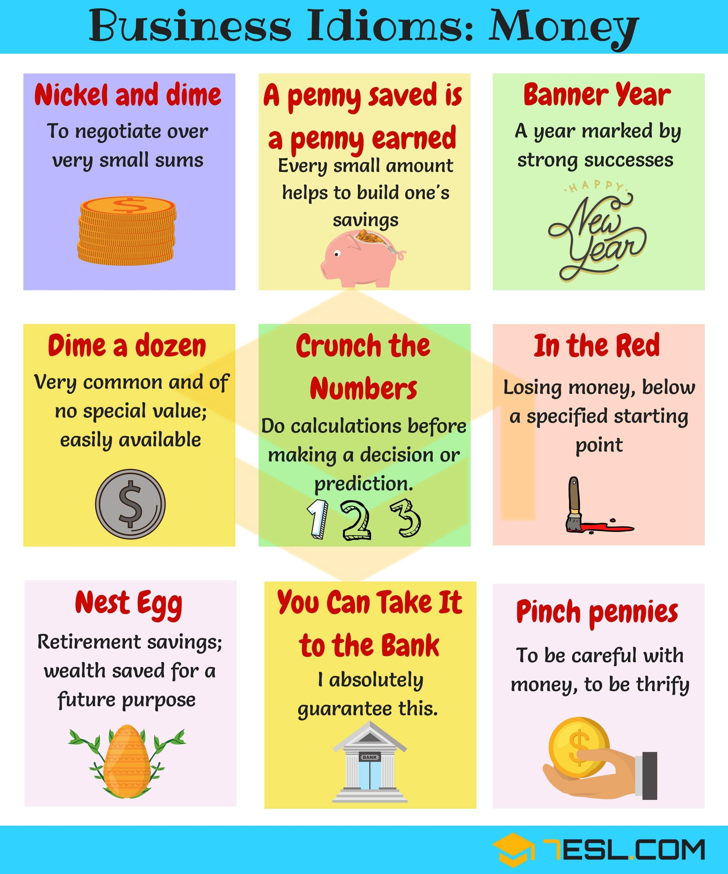 Idioms About Money And Finances