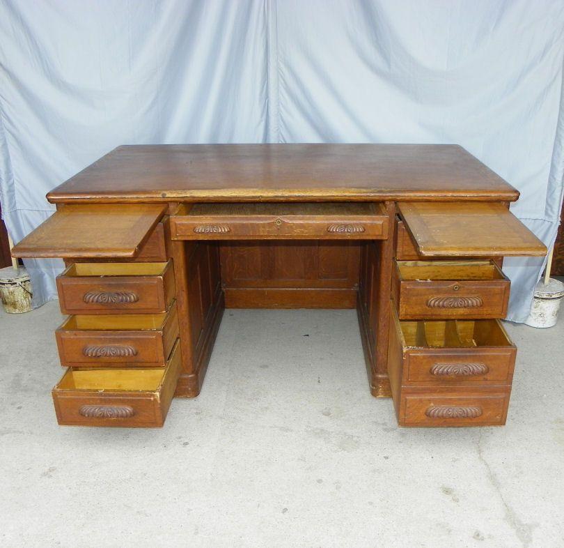 Antique Oak Mining Office Desks | Furniture U003e Early 1900u0027s Furniture  (1890 1915)