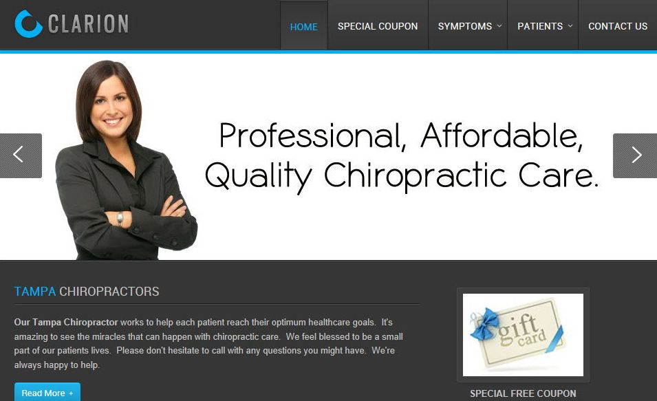 Another one of our favorite Inception Chiropractic Website templates ...
