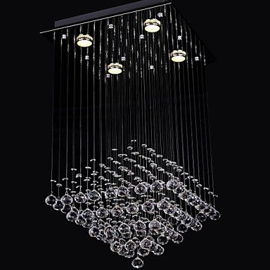 Clear Crystal 4 Lights Flush Mount In Simple Design – USD $ 89.99