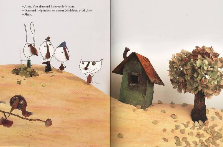 Christian Voltz - Illustration - Une foret blanche et noire - Editions du Seuil 2006