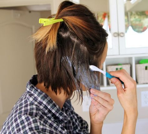 How to color your own ombre- short hair ombre tutorial | Shorter ...