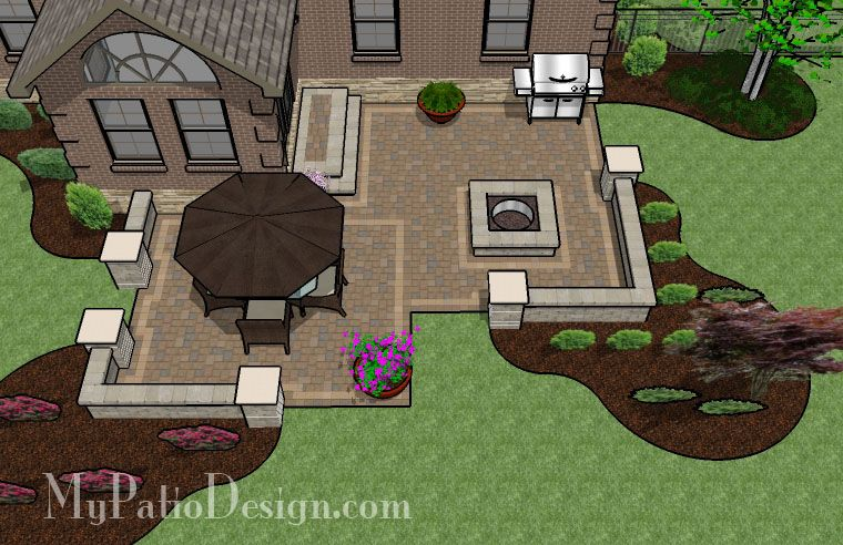 switch fire pit to the left side and dining table where fire pit is backyard patio designspatio - Designing A Patio Layout