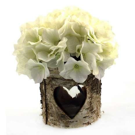 Wedding Bark Vase Arrangement Vase Arrangements Vase Arrangement