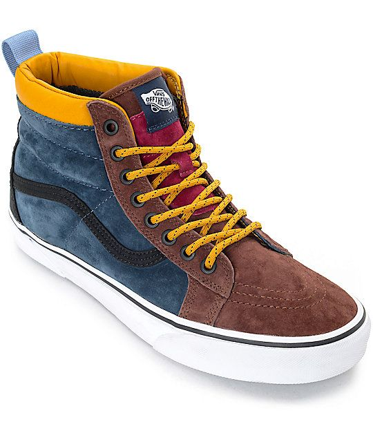 67de415850c808 The classic Vans Sk8-Hi silhouette you ve grown to love improved to tackle  any weather condition