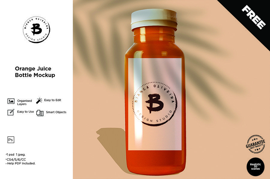Free Juice Bottle Mockup Free Design Resources Bottle
