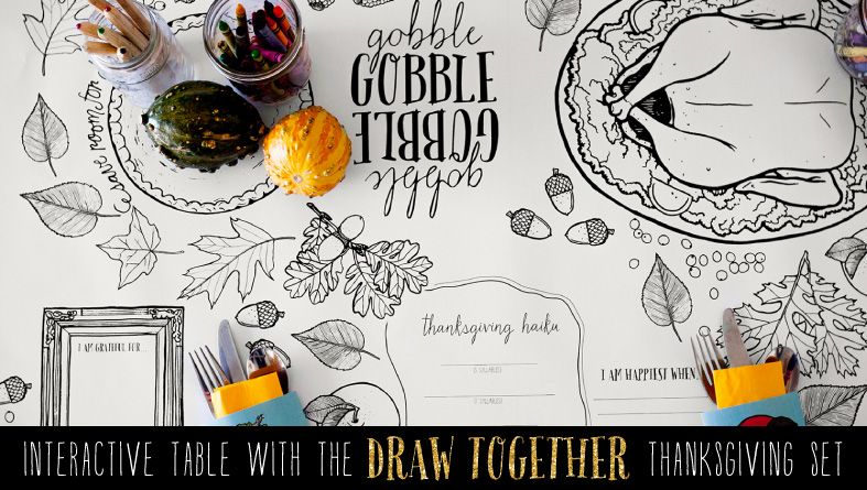 Draw Together Printable Thanksgiving Set