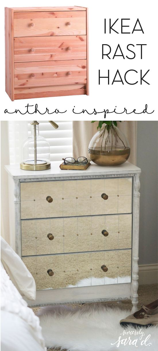 Anthropologie inspired ikea rast dresser hack ikea Ikea furniture makeover