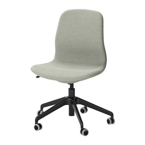 Langfjall Chaise De Bureau Gunnared Vert Clair Noir Ikea Fauteuil Bureau Chaise Chaise Bureau