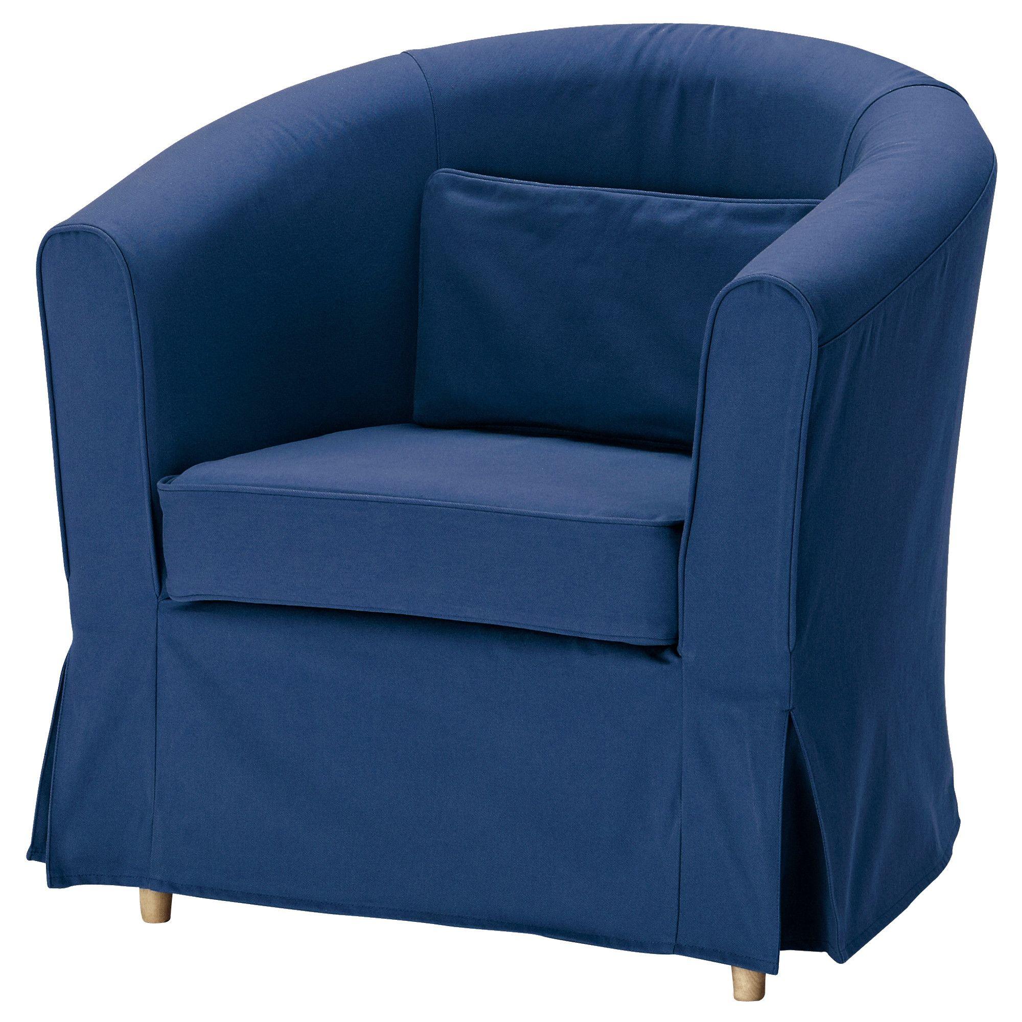 Ektorp Tullsta Hoes Fauteuil Idemo Blauw Ikea Winter