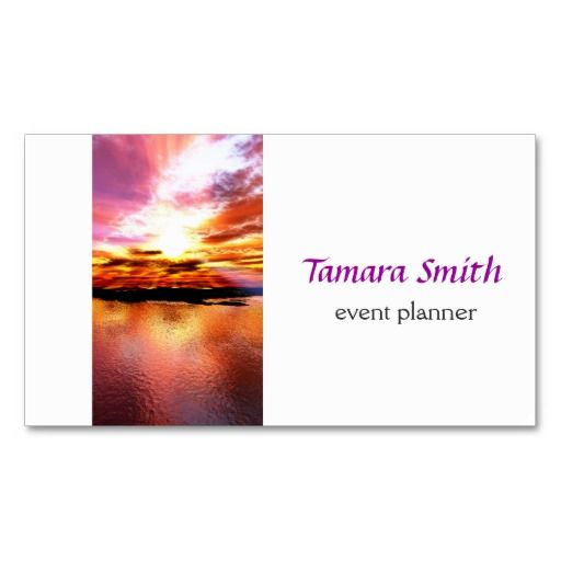 Dream' Event Planner Business Card | Business Cards, Card