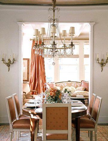 Distinctive Trimwork Ideas Orange Dining Room Elegant Dining Room Home Top tropical dining rooms vibrant