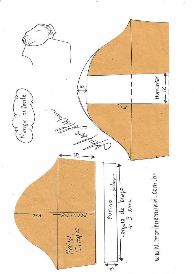 Formas de transformar el patrón para las mangas | Patrones ...