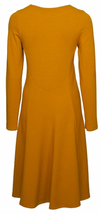 Nanso Calla jersey dress in orange, from behind