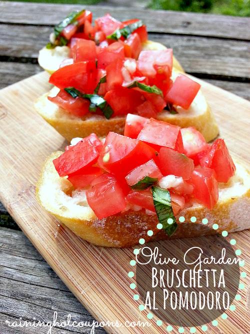 copycat olive garden bruschetta al pomodoro recipe click image - Olive Garden Bruschetta Recipe