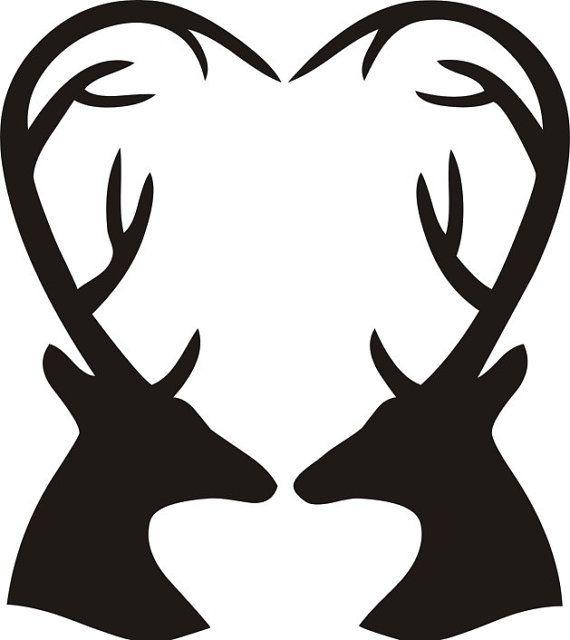 Cerf sticker chevreuil amour t te de cerf en par stickersdecoquebec bricolage - Dessin de tete de cerf ...