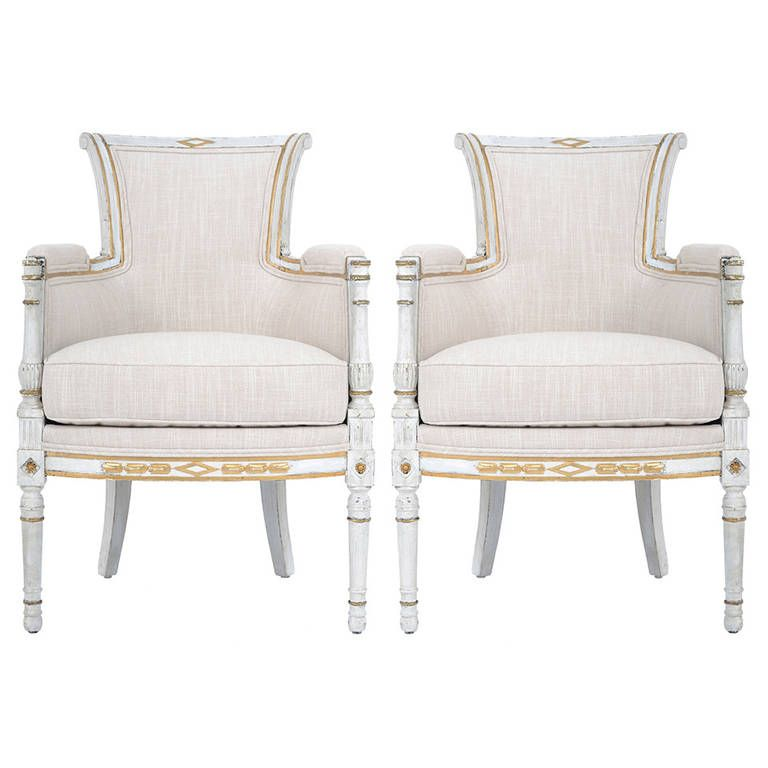 Pair of French Directoire Bergères