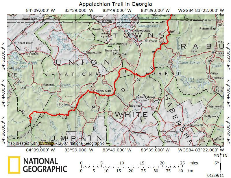 Appalachian Trail In Georgia  Appalachian Trail