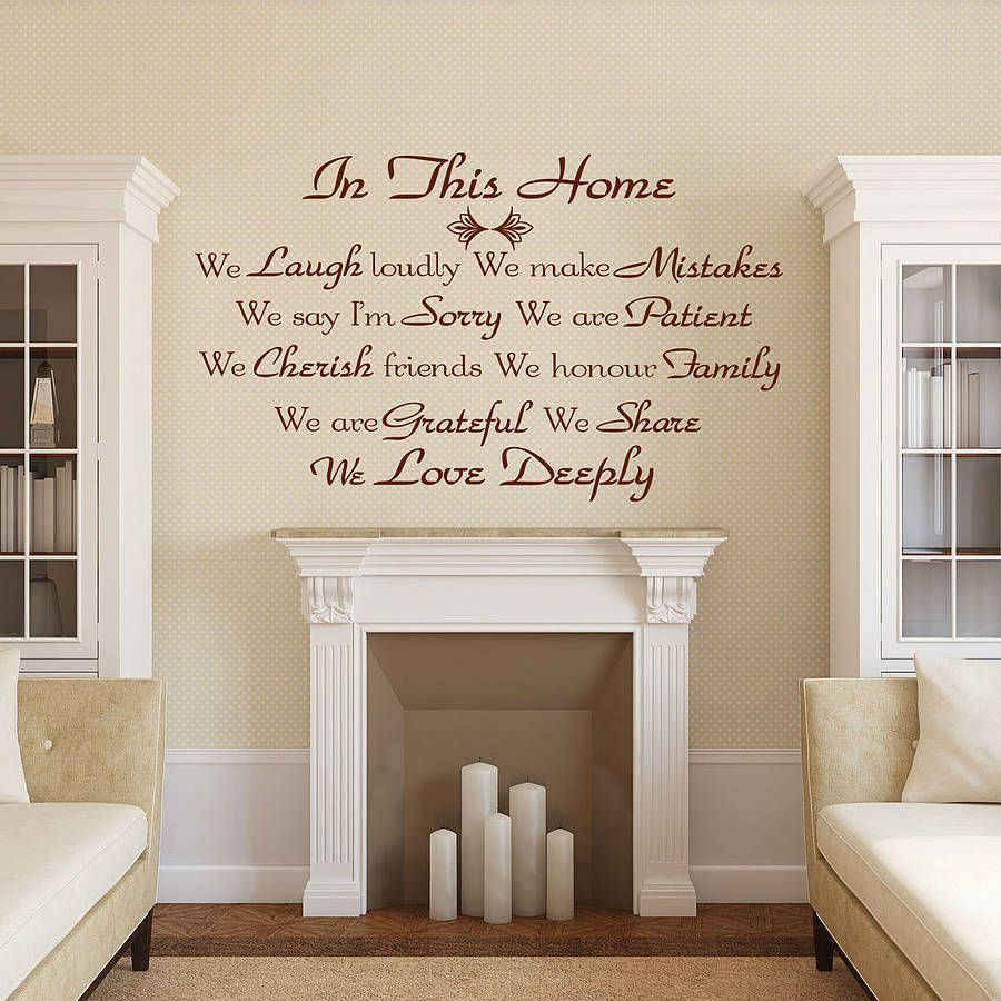 Quote Wall Stickers Uk By Wall Decals Uk By Gem Designs