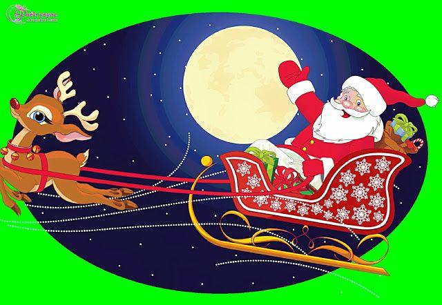Santa Claus And Deer Christmas Santa Clipart Santa Claus Pictures Christmas Lovers Cartoon Illustration