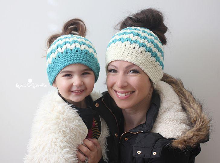 #messybunhat #crochet #mommy #messy #hats #and #bun #meCrochet Mommy and Me Messy Bun Hats messybunhat3messybunhat3 #kidsmessyhats