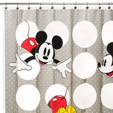 Mickey Mouse Shower Curtain Eco Friendly New Vinyl By Applefox 1500