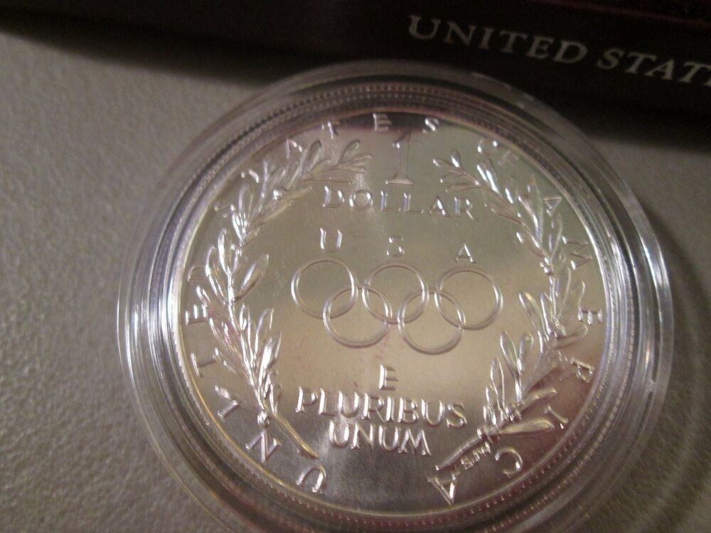 1988 Olympic Silver Proof Dollar Coin w//COA ~ Mint