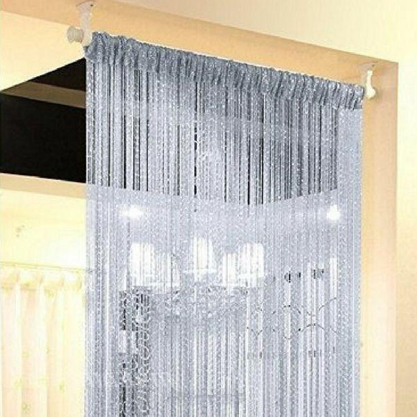 Details About Decorative String Door Curtain Crystal Hanging - Crystal hanging room divider