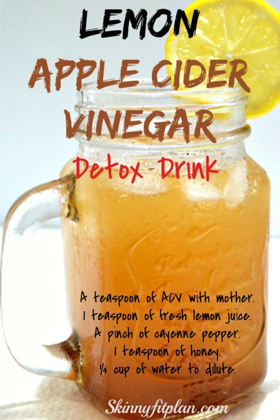7 Apple Cider Vinegar Detox Drink Recipes for Weight Loss images