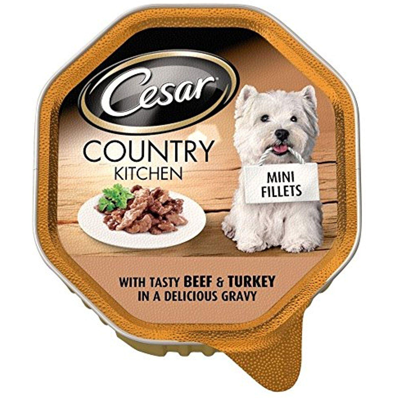 Cesar mini fillets in gravy with tasty beef turkey