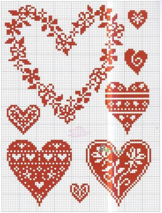 95813759 Large 6 Jpg 533 699 Cross Stitch Designs Cross Stitch Patterns Cross Stitch Heart
