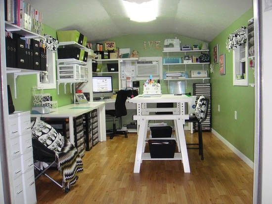 Storage Shed Turned Scraproom | Craft Room Storage ideas ...