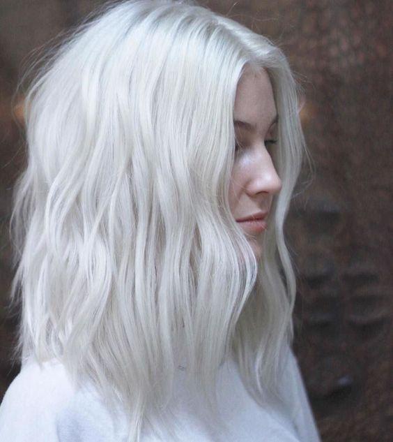 Haare weiße Weiße Haare,