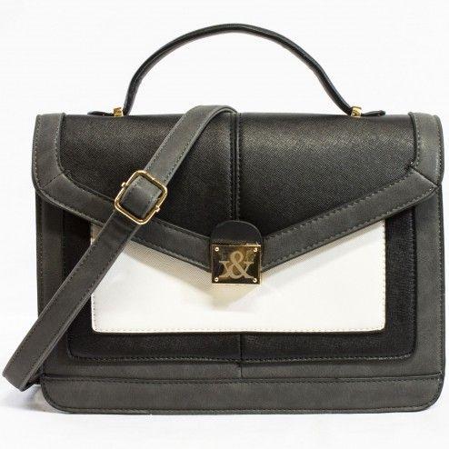 Rose structured colorblock satchel | Discount Handbags & Purses | Handbag Heaven #handbagheaven