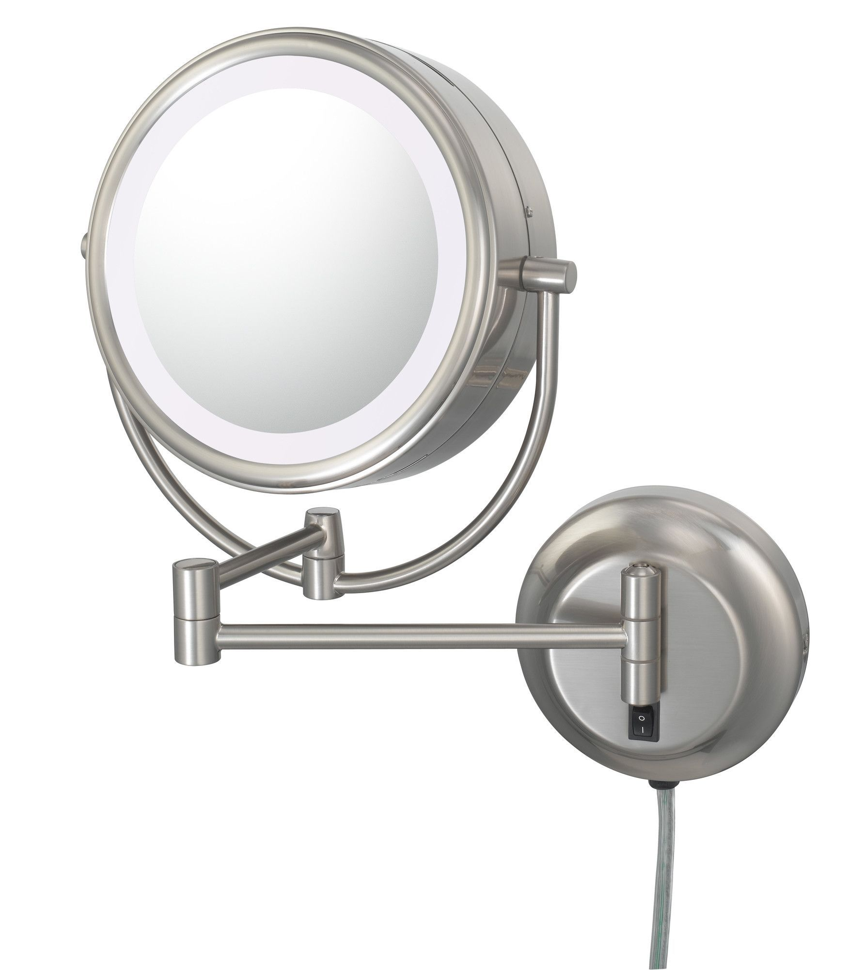 Kimball Young Neomodern Led Lighted Plug In Wall Mirror Makeup Mirror With Lights Magnifying Mirror Lighted Wall Mirror